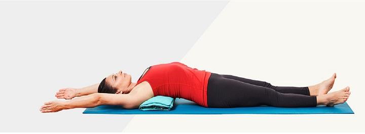 bài tập yoga cho người mất ngủ như tư thế mở rộng