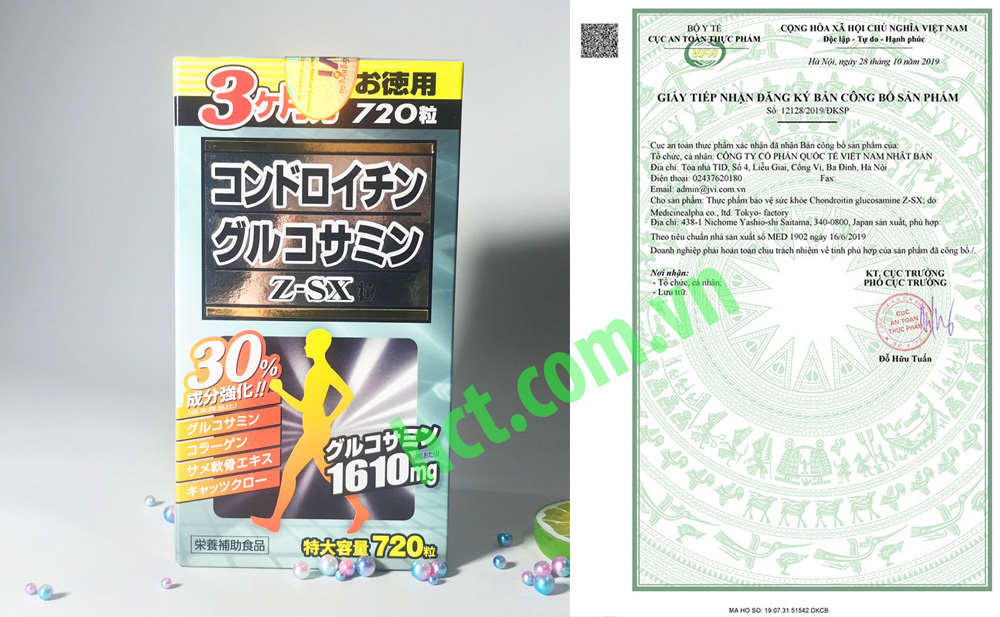 Viên Bổ Xương Khớp Chondroitin Glucosamine Z-SX 720 Viên Của Nhật